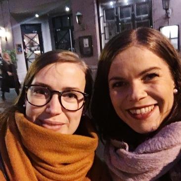 Meg og min gode venninne Kristine, som heller ikke tåler gluten.